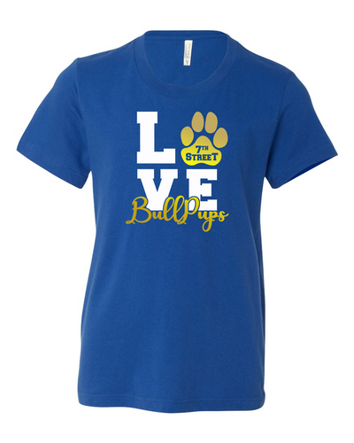 Dove Creek - 7th Street Adult BullPup Love Logo