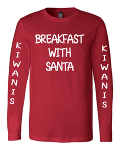Kiwanis - 2019 Breakfast with Santa Long Sleeve super soft Tshirt