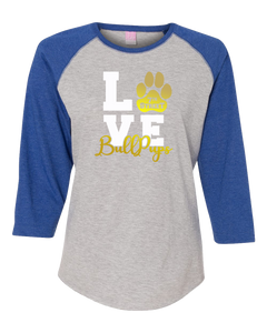 Dove Creek - 7th Street Ladies 3/4 Sleeve LOVE Logo