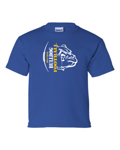 Dove Creek Football - Youth Shirts Bulldog Football Vertical Logo
