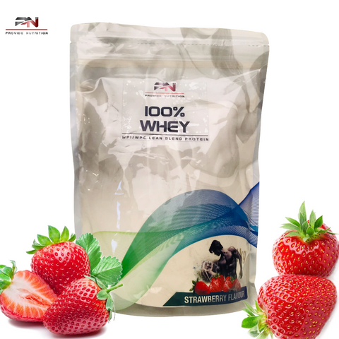 Whey Protein WPI / WPC 100% Lean Blend - Strawberry Flavour