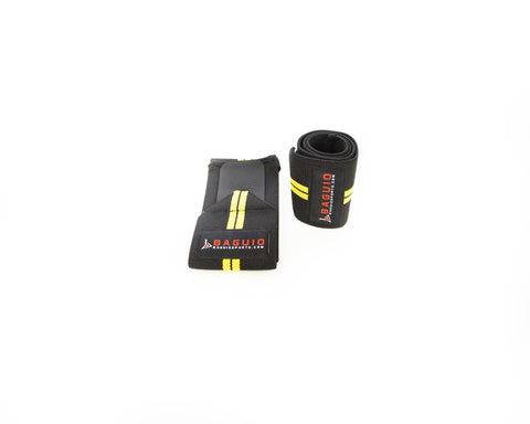 Baguio Sports Weightlifting Gym Training Wrist Strap Yellow