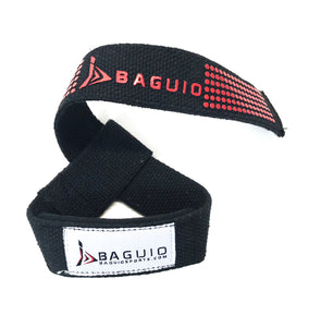 Baguio Sports-Weight & Bodybuilding Lifting Straps (Black)