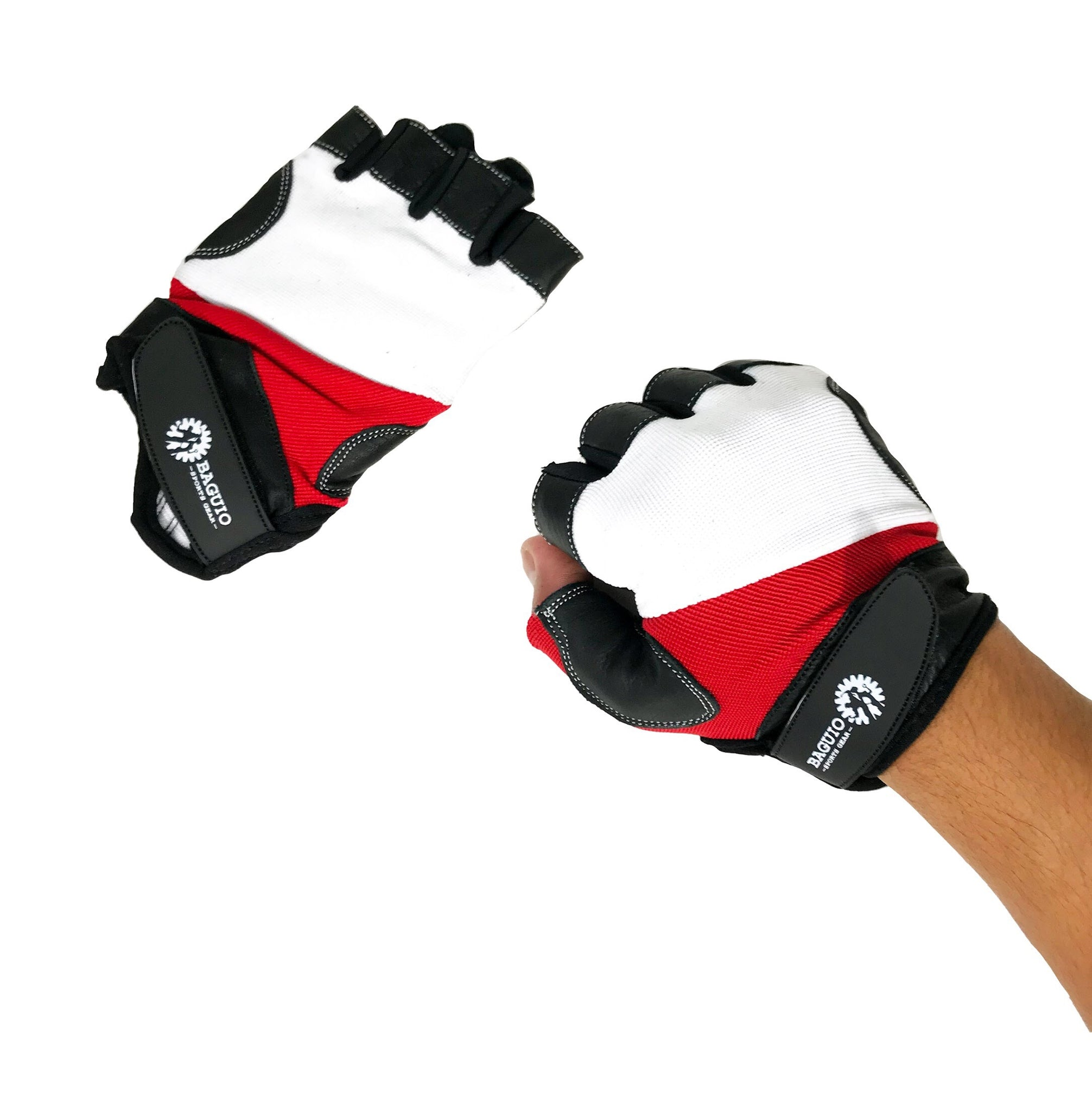 Baguio Sports Weightlifting  and Training Gloves black /red/white