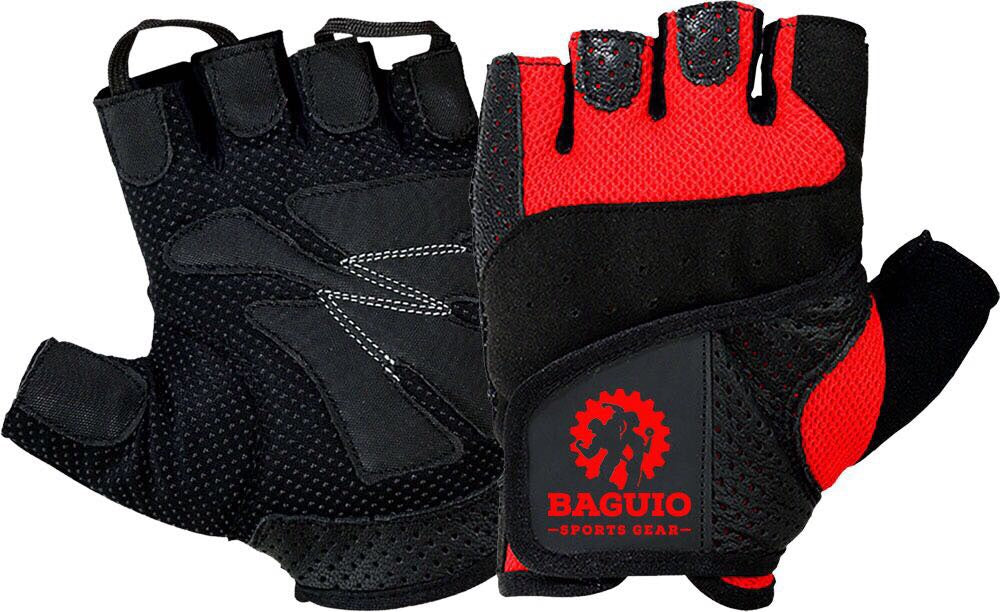 Baguio Sports Weightlifting  and Training Gloves Black/red