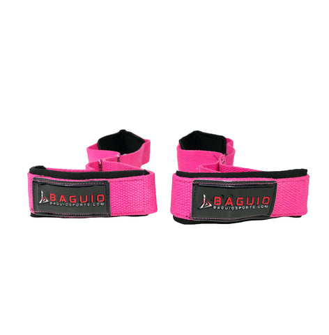 Figure 8 Weightlifitng Straps Pink