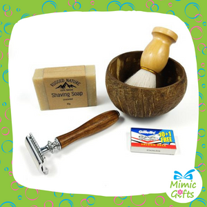 Wet Shave Kit with Safety Razor (Gift bag)