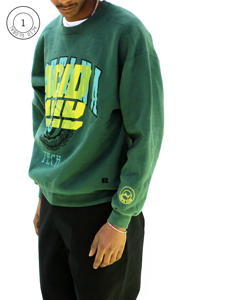ACID 1 - GREEN OVER DYED VINTAGE SWEATSHIRT