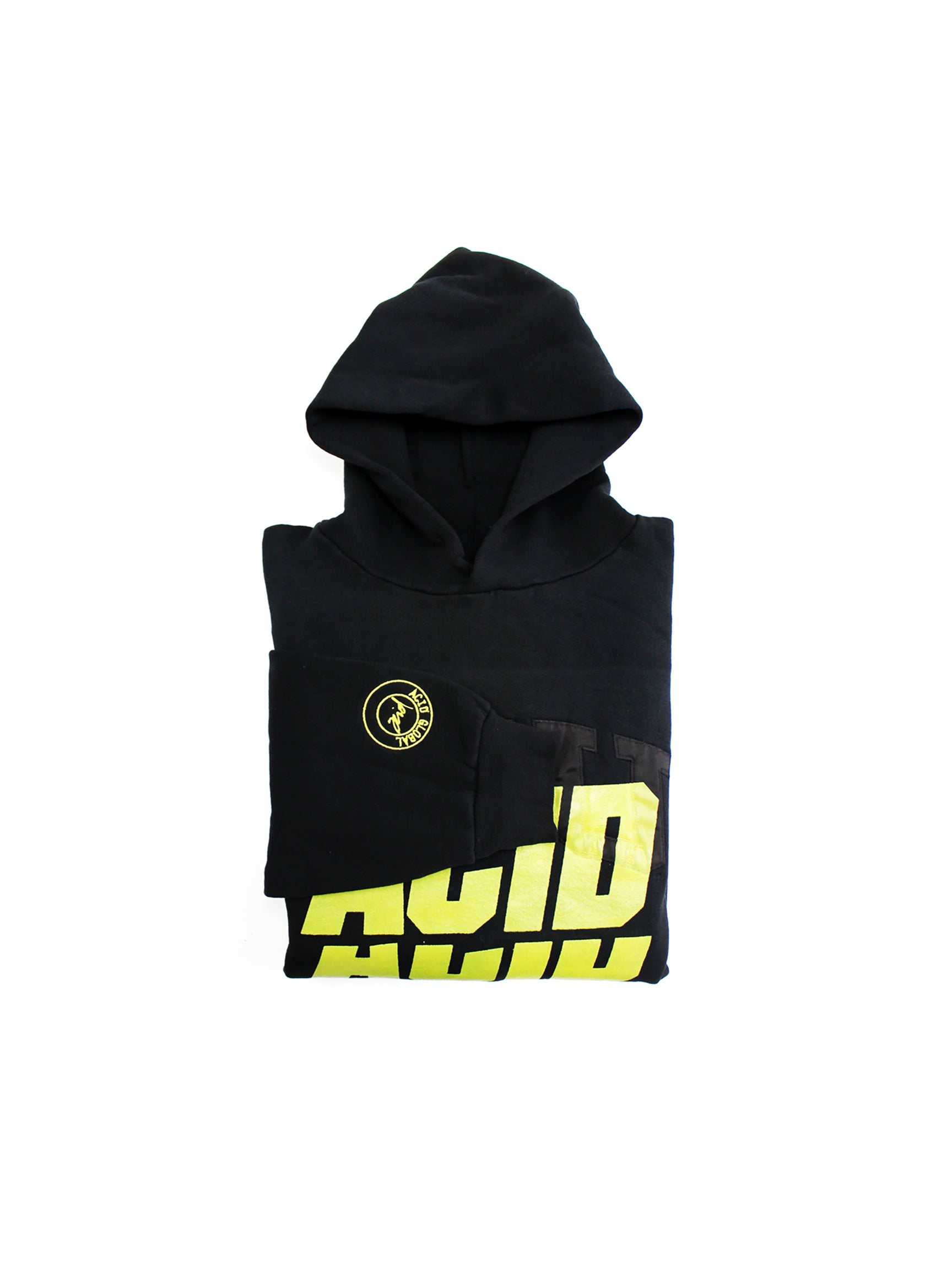 ACID 2 - BLACK OVERDYED VINTAGE HOOD - PANTONE COLOR CODE 19-4305 TPX