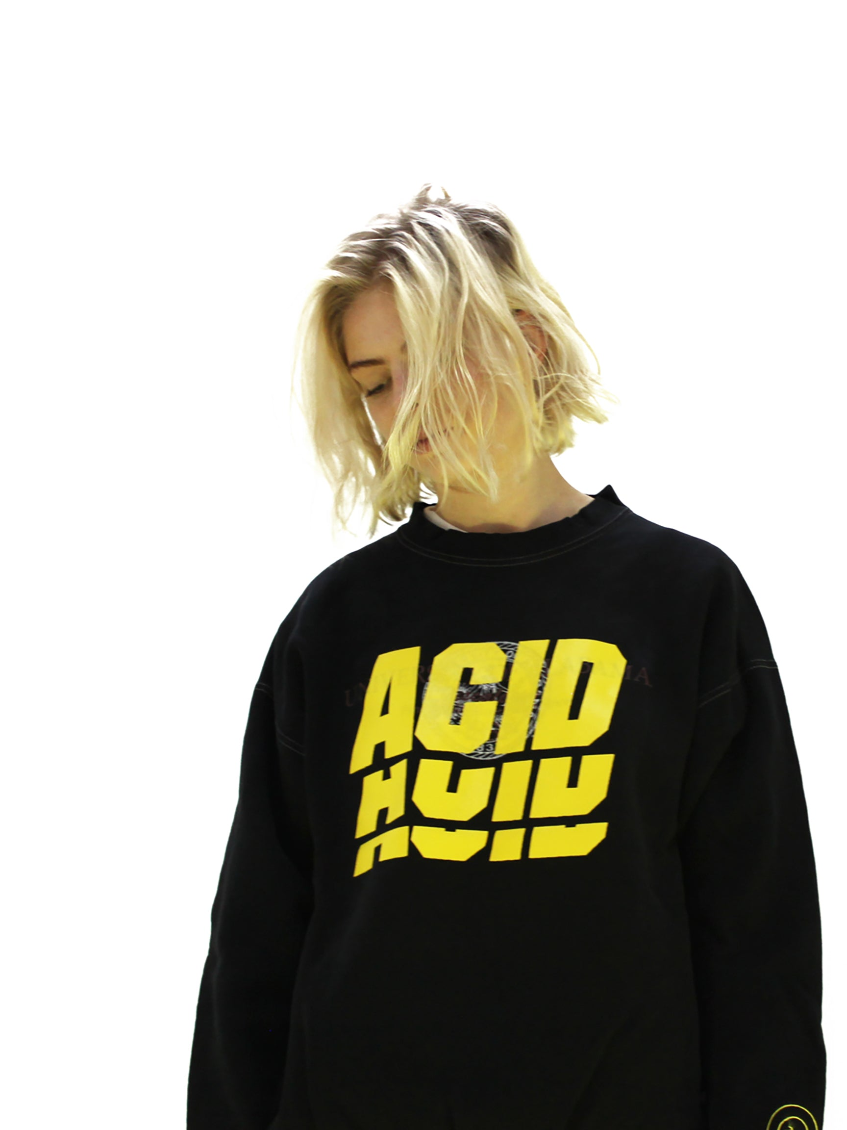 ACID 4 - BLACK OVER DYED VINTAGE SWEATSHIRT