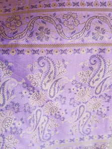 Purple Silk Scarf Beautiful Rich Brocade