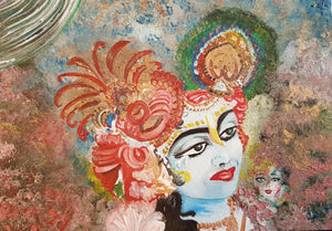 Original Oil painting - Krishna the attraction I am