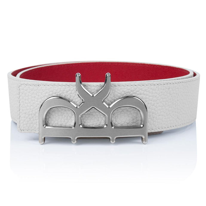 YVES Belt Men White Silver