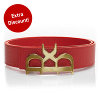YVES Belt Men Rouge Gold