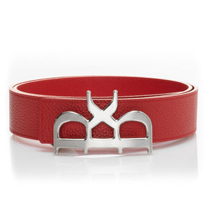 YVES Belt Men Rouge Silver