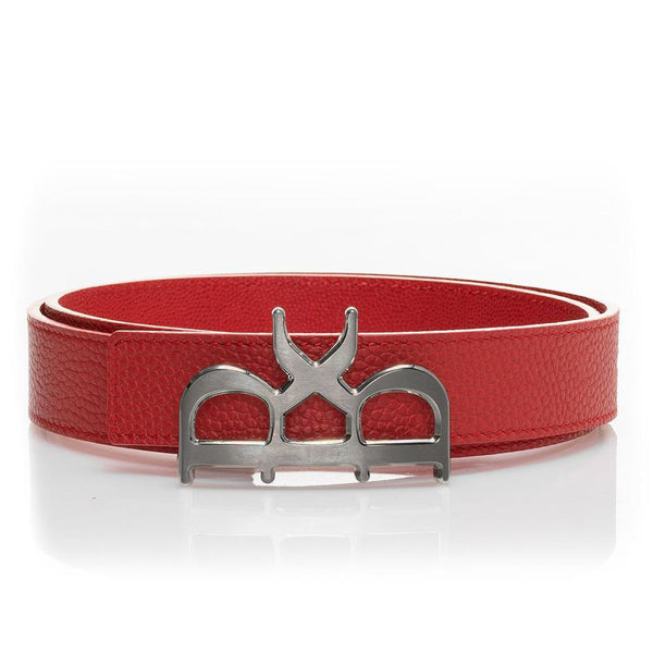 YVES Belt Women Red Gunmetal