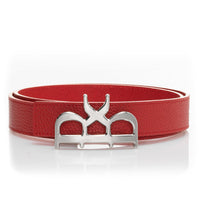 YVES Belt Red Dress - Silver