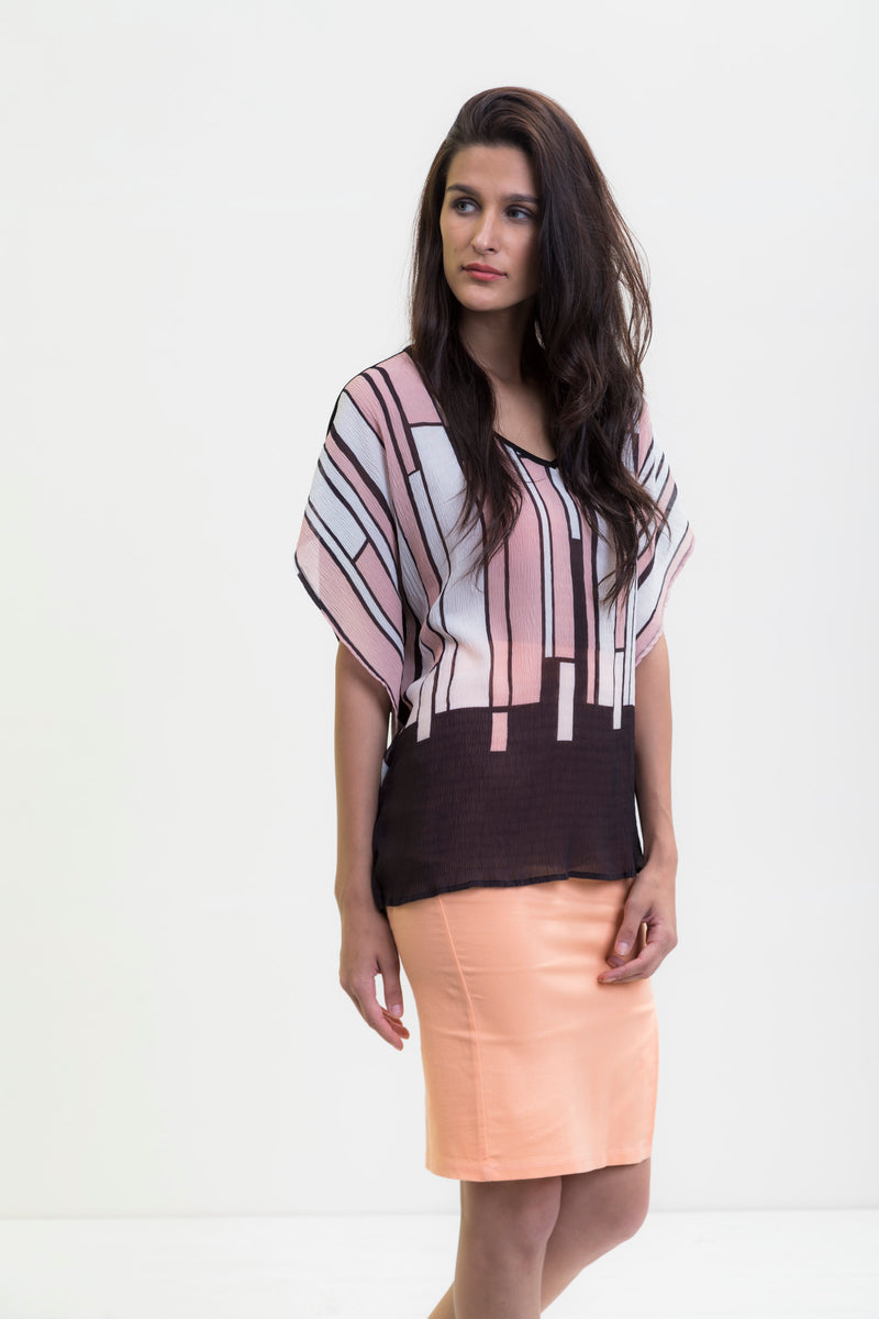 City Landscape Collared Blouse