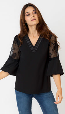 Monica Lace Inset Blouse