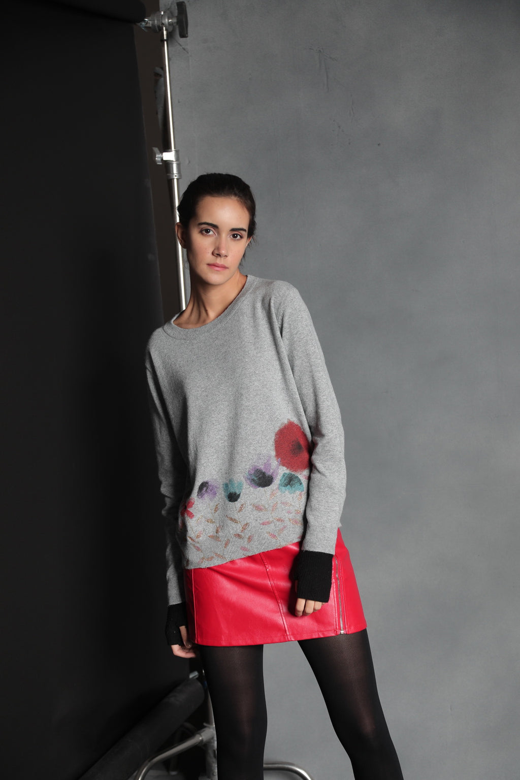 Tabitha Painted Flower Sweater