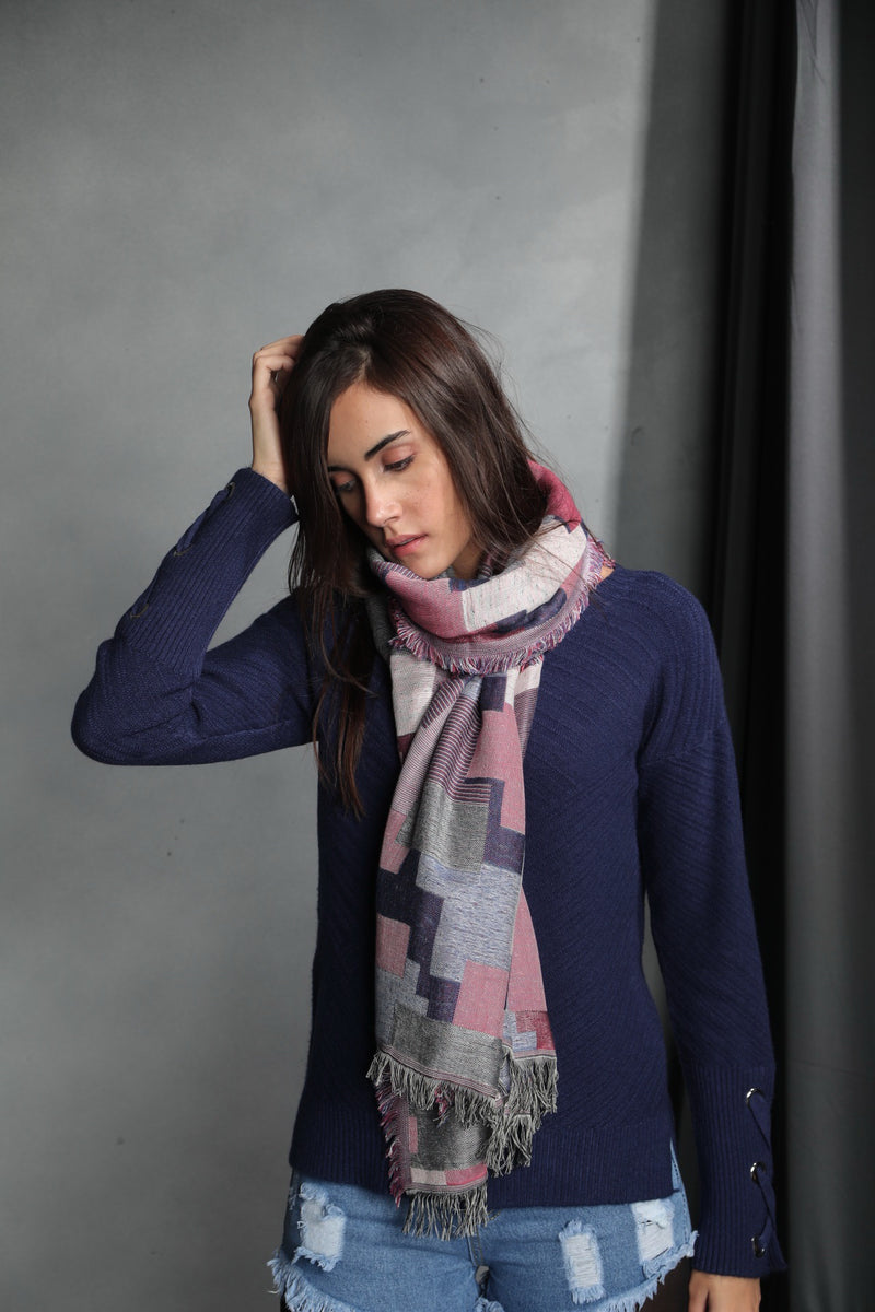 Blocks in Jacquard Scarf