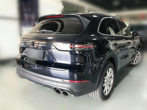 Exhaust Pipes Muffler Tail Tips For 2018 2019 Porsche Cayenne 3.0T Upgrade to Cayenne S (Silver) - ProooAuto