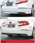 For Honda Accord 2018-2019 Rear Bumper Diffuser Side Wing Body Kit Gloss Black