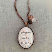 everyone has a story: oval (available in silver & copper)