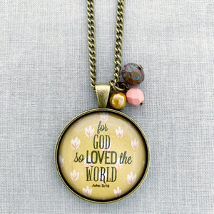 for God so loved the world: bronze floral