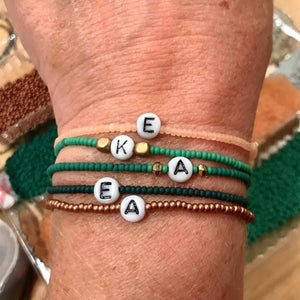 seed bead prayer bracelet