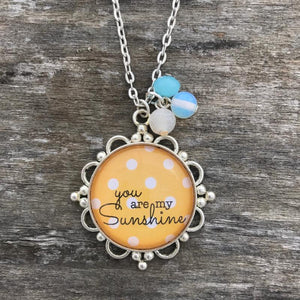 you are my sunshine: polka dot scroll