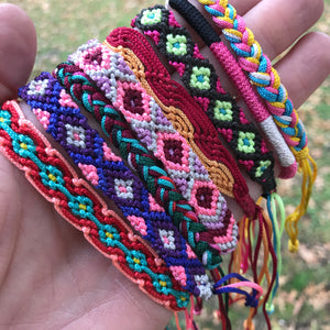 hand woven Cambodian bracelets