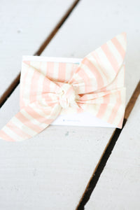 DOUBLE headwrap: peach stripe