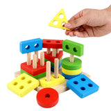 Wooden Educational Shape & Color Recognition Geometric Board