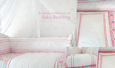 Ruby themed Cot bedding set