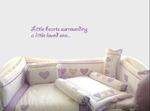 Purple Heart Themed Cot Bedding Set