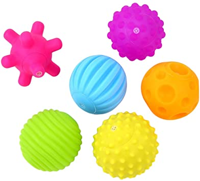Sensory Educational Soft Ball - 6 Pcs