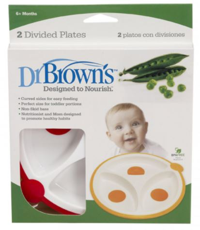 Dr. Brown's Divided Plate - Set of 2