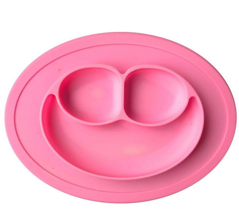 Baby Silicon Plate - Pink