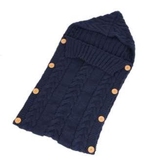 Knitted Sleeping Bag - Blue