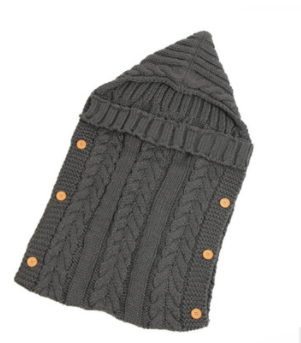 Knitted Sleeping Bag - Grey