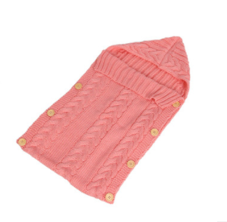 Knitted Sleeping Bag - Pink
