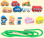 Wooden string toy - Vehicles