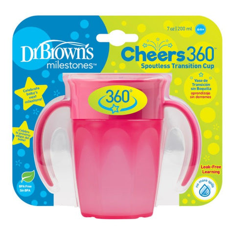 Dr. Brown's Cheers360 Spoutless Transition Cup With Handles - 7oz/250ml (6m+)