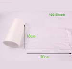 Disposable Bamboo Fiber Diaper Liners - 100 Sheets