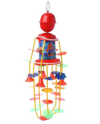 Wind up rotating rattle with music- Wind chime