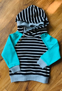 Ampersand Avenue Mint striped hoodie