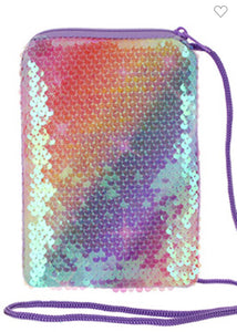Sequin Messenger Bag