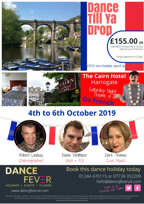 Dance Till Ya Drop 2019 - Dance Fever Holidays