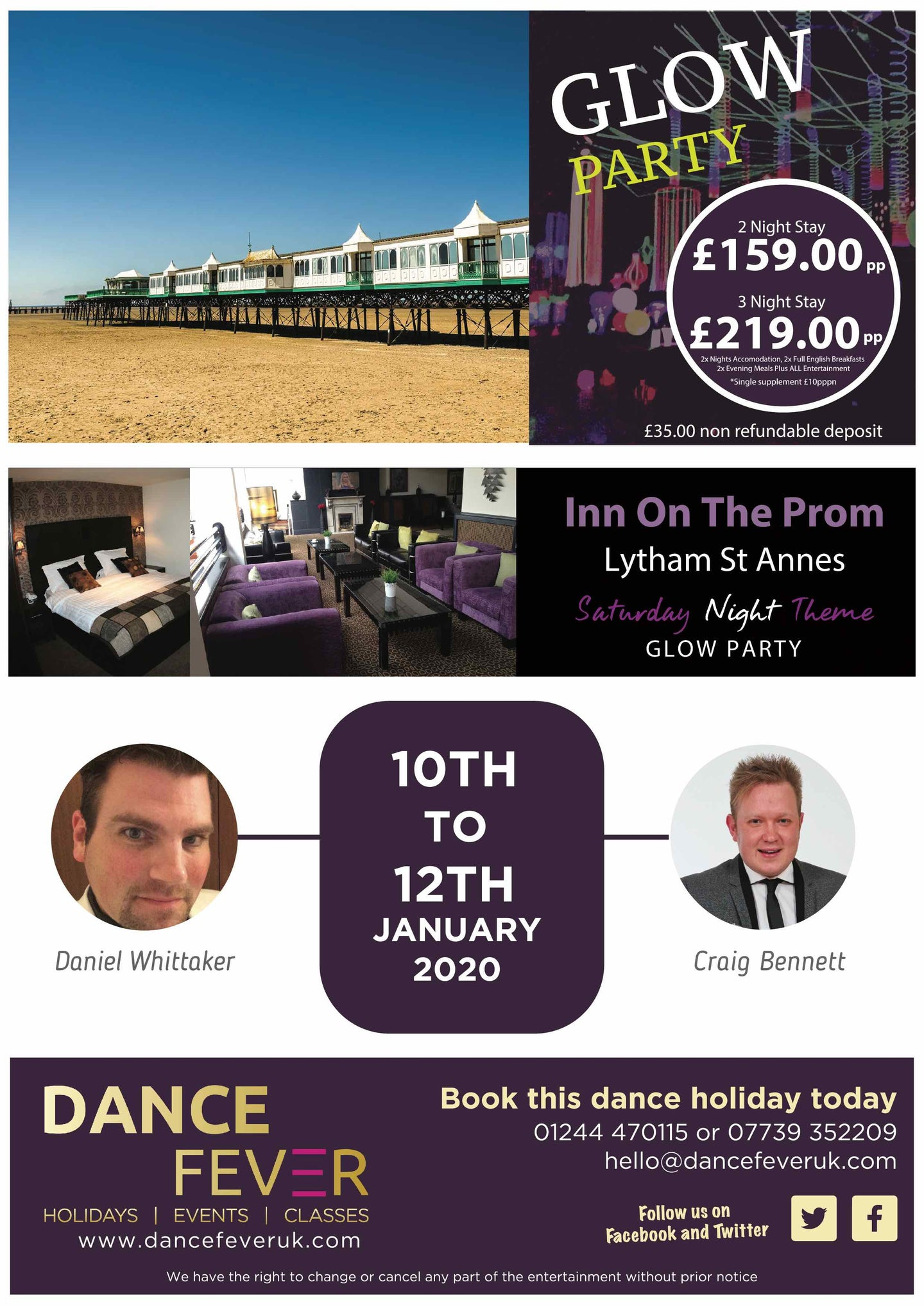 Party On The Prom 2020 - Dance Fever Holidays
